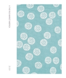 RugStudio presents The Rug Market America Resort Sand Dollar Blue 25351 Aqua/white Hand-Hooked Area Rug